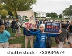 washington  dc   oct. 12  2017  ... | Shutterstock . vector #733934674