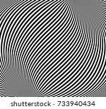optical illusion  abstract... | Shutterstock .eps vector #733940434