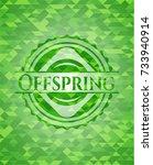 offspring realistic green... | Shutterstock .eps vector #733940914