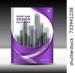 annual report brochure flyer... | Shutterstock .eps vector #733941238