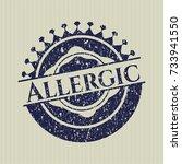 blue allergic distressed grunge ... | Shutterstock .eps vector #733941550