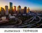amazing colorful sunrise in... | Shutterstock . vector #733948108