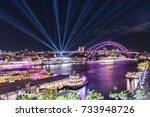 vivid sydney   circular quay | Shutterstock . vector #733948726