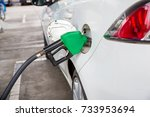 refill and filling oil gas fuel ...   Shutterstock . vector #733953694