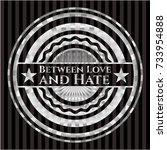 between love and hate silvery... | Shutterstock .eps vector #733954888