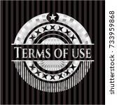 terms of use silvery shiny badge
