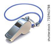 metal whistle 3d render...   Shutterstock . vector #733961788