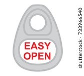 lid easy open can label ring... | Shutterstock .eps vector #733966540