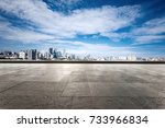 empty marble floor and... | Shutterstock . vector #733966834