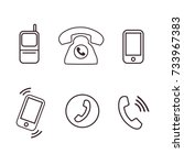 phone icons pack vector | Shutterstock .eps vector #733967383