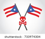 puerto rico emblem fatality | Shutterstock .eps vector #733974304
