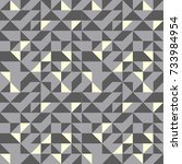 vector seamless gray pattern... | Shutterstock .eps vector #733984954