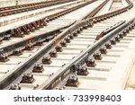 railway tracks | Shutterstock . vector #733998403