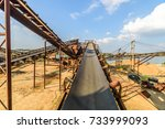 open pit mining and processing... | Shutterstock . vector #733999093