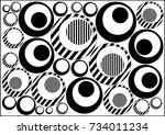 abstract geometric pattern with ... | Shutterstock .eps vector #734011234