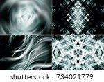 collection of images silver.... | Shutterstock . vector #734021779