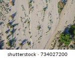 Sandy Desert Wash In The Mojav...