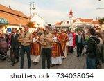 national pilgrimage  28.9.2017  ...   Shutterstock . vector #734038054
