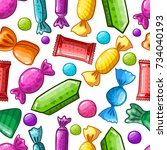 seamless pattern with candy...
