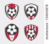 soccer logo or football club... | Shutterstock .eps vector #734045878