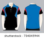 sport polo shirt design | Shutterstock .eps vector #734045944
