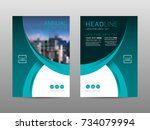 annual report brochure layout... | Shutterstock .eps vector #734079994