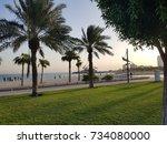 a beautiful green morning...   Shutterstock . vector #734080000