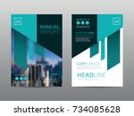 annual report brochure layout... | Shutterstock .eps vector #734085628