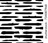 grunge paint stripe . vector... | Shutterstock .eps vector #734087968