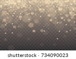 winter with snow in transparent ... | Shutterstock .eps vector #734090023