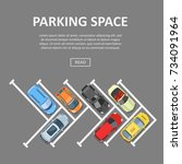 parking space template. place... | Shutterstock .eps vector #734091964