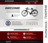 Web Design Website Elements Dark Template