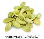 pumpkin sunflower seeds close up | Shutterstock . vector #73409863
