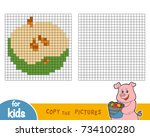 copy the picture by squares ... | Shutterstock .eps vector #734100280