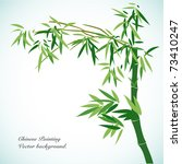bamboo   chinese painting... | Shutterstock .eps vector #73410247