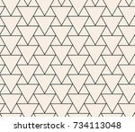 seamless geometric abstract... | Shutterstock .eps vector #734113048
