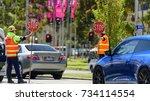 melbourne  victoria australia...   Shutterstock . vector #734114554