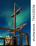 Deck Of A Pirate Ship With Mast ...