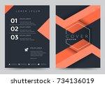 cover design vector template... | Shutterstock .eps vector #734136019