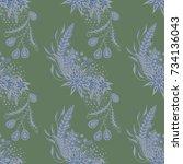 modern zendoodle rapport.... | Shutterstock .eps vector #734136043