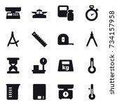 16 vector icon set   market