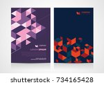 abstract brochure template... | Shutterstock .eps vector #734165428