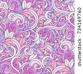 seamless pink abstract pattern. ...   Shutterstock .eps vector #734169760