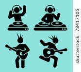 black music pictograms of dj... | Shutterstock .eps vector #73417105