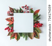 creative christmas layout made... | Shutterstock . vector #734174359