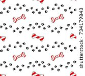 cute cartoon seamless pattern... | Shutterstock .eps vector #734179843