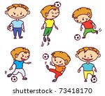 footballer  soccer player  set  ... | Shutterstock .eps vector #73418170