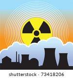 nuclear sunset  radiation leaks | Shutterstock .eps vector #73418206
