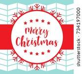 template christmas card  for... | Shutterstock .eps vector #734197000