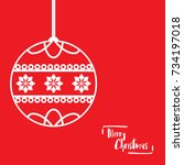 template christmas card  for... | Shutterstock .eps vector #734197018
